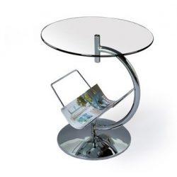 Alma átlátszó üveg Lerakóasztal