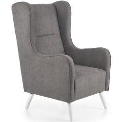 Chester sötétszürke fotel fehér lábbal