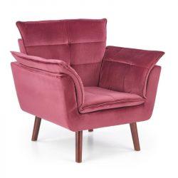 Rezzo piros fotel sötét dió lábbal