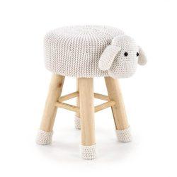 Dolly 2 fehér bárányos puff