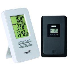Vezeték nélküli külső-belső hőmérő ébresztőórával