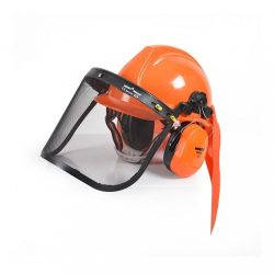 Hecht 900100 védősisak fülvédővel és rostéllyal, CE