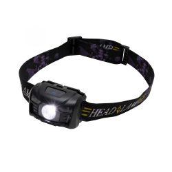 LED-es, tölthető fejlámpa, PIR, 100 lumen