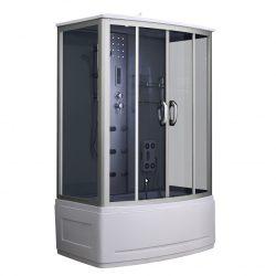 Emilia 85x135 cm hidromasszázs kádkabin elektonikával Black