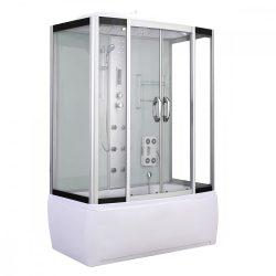 Emilia 85x150 cm hidromasszázs kádkabin elektonikával White