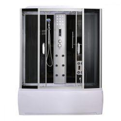 Emilia 85x170 cm hidromasszázs kádkabin elektonikával Black