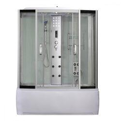 Emilia 85x170 cm hidromasszázs kádkabin elektonikával White