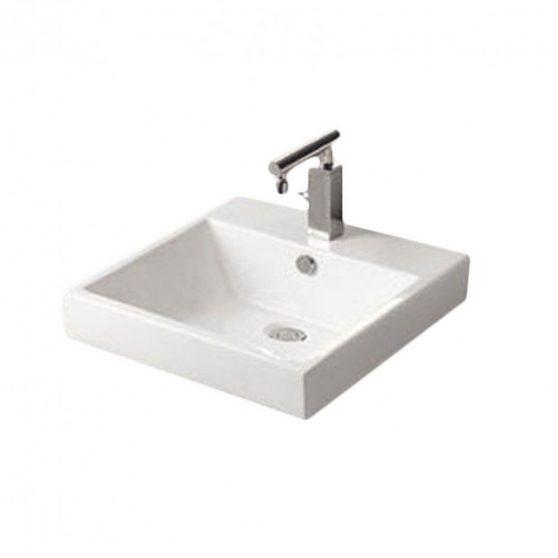 K610 - Ráépíthető síklapos kerámia mosdó