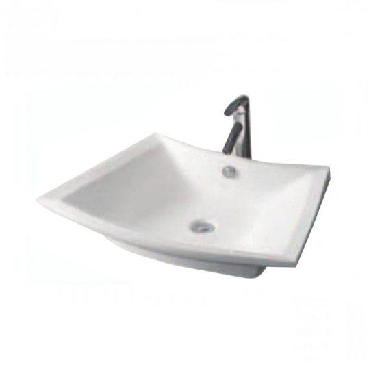 K815 Design mosdó, síklapos, íves