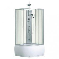 Karolina WH 90x90 cm íves mélytálcás hidromasszázs zuhanykabin