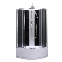 Karolino 80x80 cm Black mélytálcás zuhanykabin
