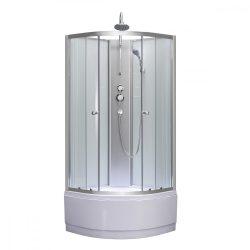 Karolino 80x80 cm White mélytálcás zuhanykabin