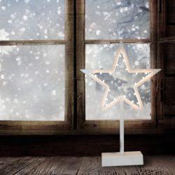 Csillag ablakdísz LED világítással (elemes)