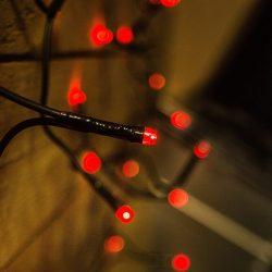 LED piros fényfüzér karácsonyfára