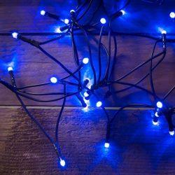 LED kék fényfüzér karácsonyfára
