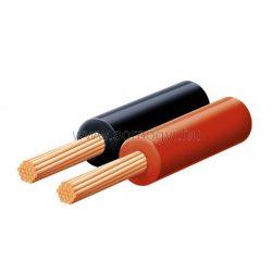 Hangszóróvezeték, piros-fekete, 2x0,15mm, 100m/tekercs