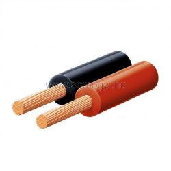 Hangszóróvezeték, piros-fekete, 2x0,5mm, 100m/tekercs