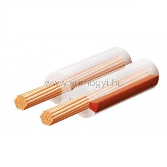 Hangszóróvezeték, transzparent, 2x0,75mm, 100m/tekercs