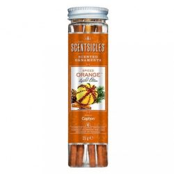 Spiced Orange műfenyőre akasztható illatrúd (illatpálca), fűszeres narancs illattal, 6 db pálca