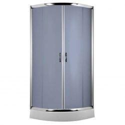 FUNKIA 90x90 cm íves zuhanykabin zuhanytálcával