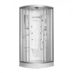 Liza 90x90 cm íves hidromasszázs zuhanykabin