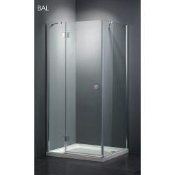 Ferraro 120 szögletes nyílóajtós zuhanykabin, univerzális