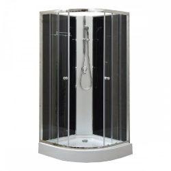 Marco Black II 80x80 cm zuhanykabin zuhanytálcával