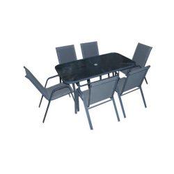 Modena kerti bútor szett szürke 6+1