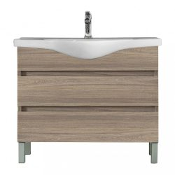 Seneca 105 cm-es bútorhoz alsószekrény, mosdóval, Rauna szil
