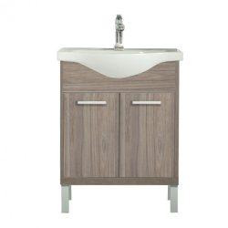 Nerva 65 cm-es bútorhoz alsószekrény, mosdóval, Rauna szil