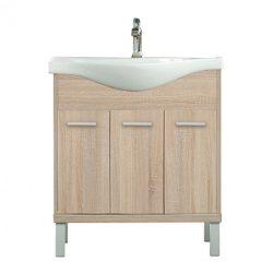 Nerva 75 cm-es bútorhoz alsószekrény, mosdóval, Sonoma tölgy