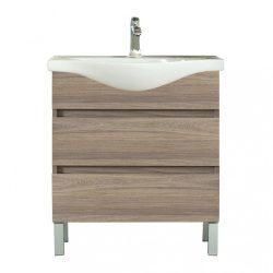 Seneca 85 cm-es bútorhoz alsószekrény, mosdóval, Rauna szil