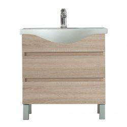 Seneca 85 cm-es bútorhoz alsószekrény, mosdóval, Sonoma tölgy