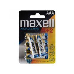 Maxell LR03 4+2 AAA elem, alkáli, 1,5V