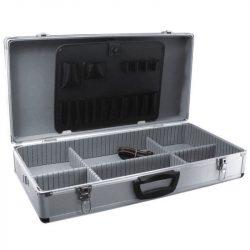 Alumínium bőrönd 640x325x150, ezüstszínű