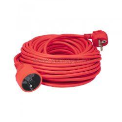 30m hosszabbító, piros, 3x1,5 mm2
