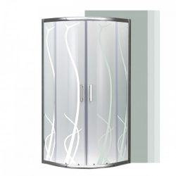 Spirit Bamboo 90x90 cm íves zuhanykabin zuhanytálca nélkül