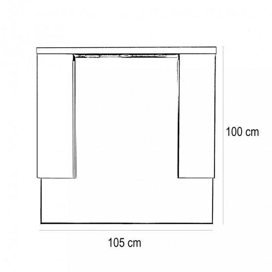 Seneca 105 komplett fürdőszobabútor
