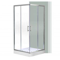 Spirit Mátrix szögletes zuhanykabin, erősített akril zuhanytálcával