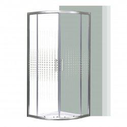 Spirit Mátrix 80x80 cm íves zuhanykabin zuhanytálca nélkül