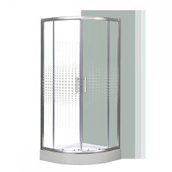 Spirit Mátrix íves minőségi zuhanykabin , erősített akril zuhanytálcával