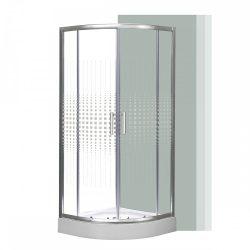 Spirit Mátrix 90x90 cm íves zuhanykabin zuhanytálcával