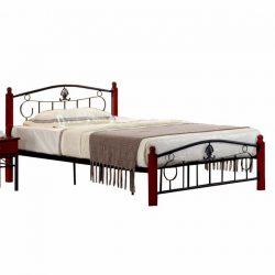 MAGENTA Fém ágy ágyráccsal, 140x200