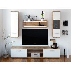 WAW NEW Nappali szekrénysor, tölgyfa wotan/fehér