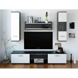 WAW NEW Nappali szekrénysor, fekete/fehér