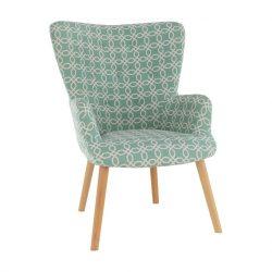 BRANDO Modern fotel , zöld szövettel