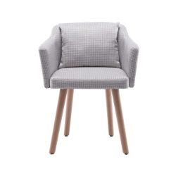 Dizájnos fotel, bézs minta, DIPSY