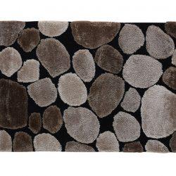 Szőnyeg, barna-fekete, 80x150, PEBBLE TYP 2