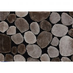 Szőnyeg, barna-fekete, 140x200, PEBBLE TYP 2