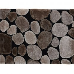 Szőnyeg, barna-fekete, 100x140, PEBBLE TYP 2